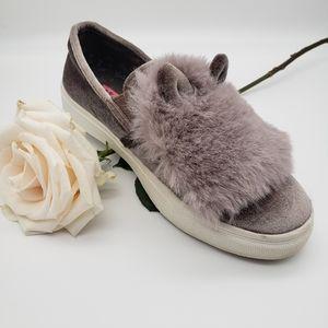 Betsy johnson fluffy faux fur sneaker